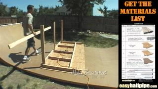 How To Build A Halfpipe Step 7 Decks
