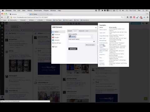 10 Minute Tutorial - How to Setup Hootsuite as a Social Media Listening Post