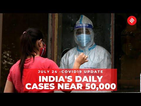 Coronavirus On July 24, India's New Covid-19 Cases Near 50,000