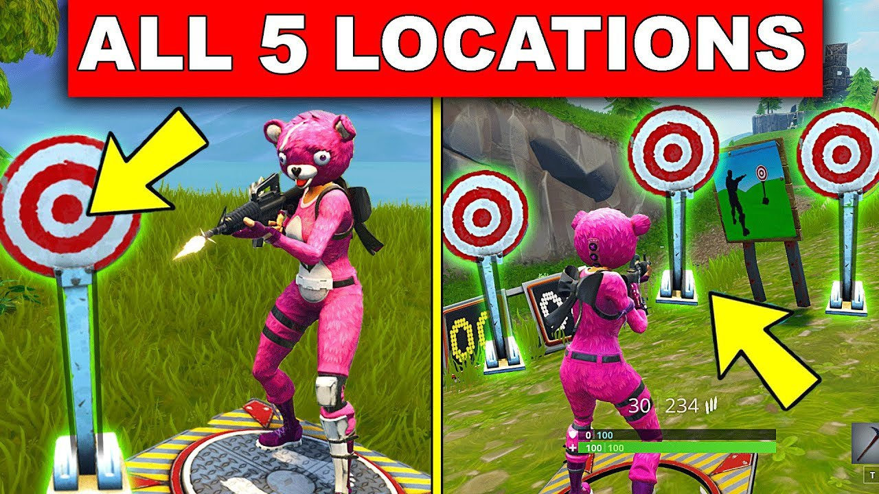 get a score of 3 or more at different shooting galleries all 5 location week 4 challenges fortnite
