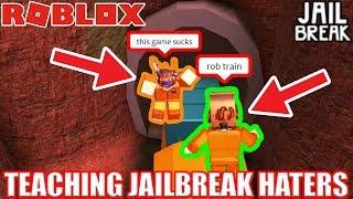 Teaching Jailbreak HATERS how to Grind   Roblox Jailbreak
