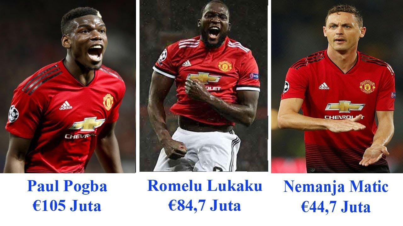 Bursa Transfer Termahal Manchester United Bersama Dengan Pogba Lukaku Matic Dan Pemain Lainnya