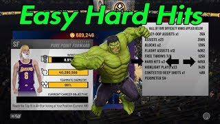 HOW TO GET BRUISER - EASY HARD HITS - NBA 2K19 Video