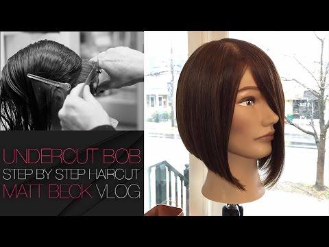 Undercut One Length A Line Bob Haircut Step By Step Matt Beck Vlog