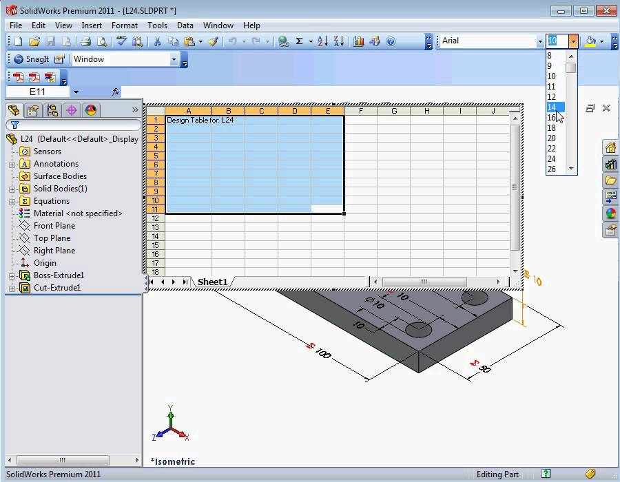 SolidWorks Tutorial - Configuring a Global Variable - YouTube