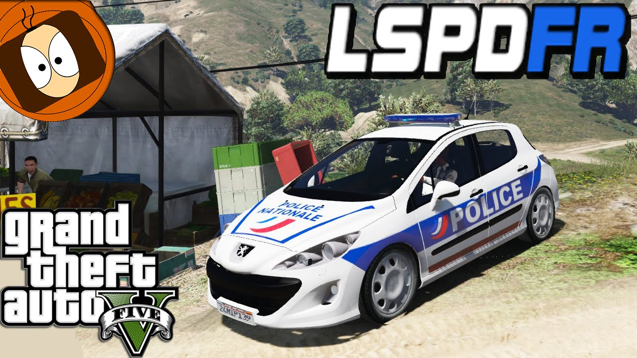police nationale s curit publique en 308 pn gta 5 lspdfr youtube. Black Bedroom Furniture Sets. Home Design Ideas