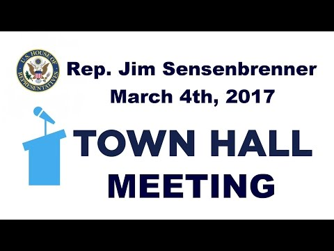 Rep. Jim Sensenbrenner Lake Mills Town Hall Meeting - March 4th, 2017