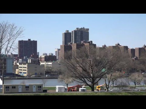 4KTest Footage Sony AX-100 (Film from the Top of Icahn Stadium )