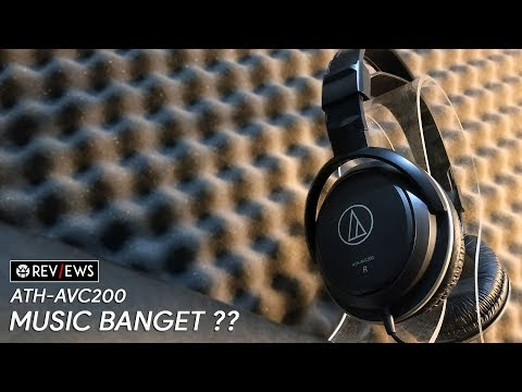 UNBOXING & REVIEW HEADPHONE AUDIO TECHNICA ATH-AVC200 SONICPRO INDONESIA