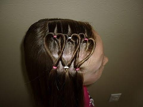 triple heart hairstyle teens