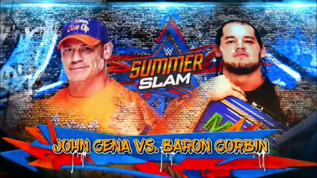 Fall Out Boy 2017 Wallpaper Wwe Summerslam 2017 John Cena Vs Baron Corbin Official
