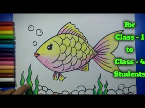 Easy Fish Drawing - YouTube