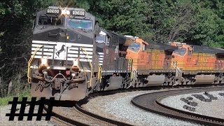 Norfolk Southern Trains and Helper Engines at Horseshoe Curve in Altoona, PA