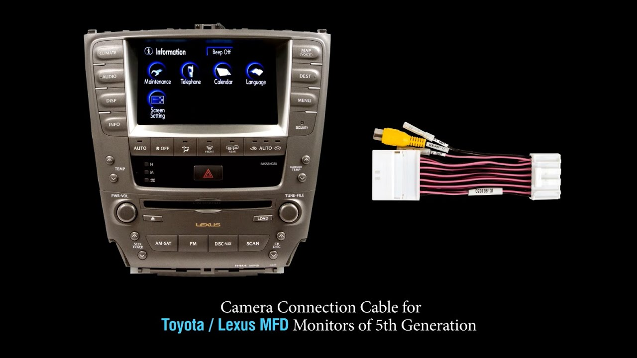 small resolution of rear view camera connection cable for toyota lexus mfd lexus es300 stereo wiring diagram lexus gx470
