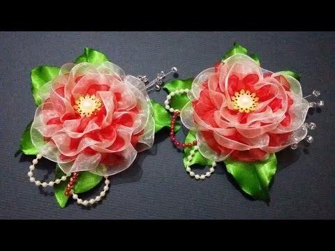 D.I.Y. Double Layered Organza Flower - Tutorial | MyInDulzens