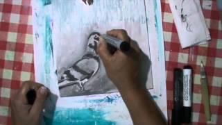 Painting On Wood Panel Victim