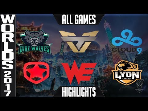 2017 Worlds Play in Stage Day 2 Highlights ALL GAMES Groups AB   LoL World Championship 2017