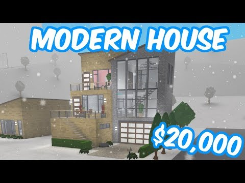 20 000 Modern House Build Roblox Bloxburg Youtube
