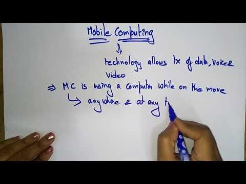 Mobile Computing Introduction| Mobile Computing | Lec - 1| Bhanupriya