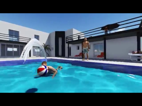 Maison d 39 architecte contemporaine toit plat avec piscine for Local piscine toit plat