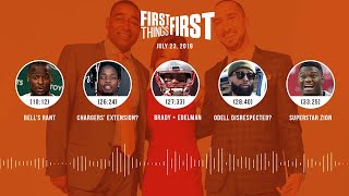 First Things First audio podcast (7.23.19)Cris Carter, Nick Wright, Jenna Wolfe | FIRST THINGS FIRST