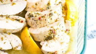 Easy Lemon Garlic Baked Chicken Breast Recipe - How to Bake Chicken Breasts