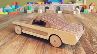 How To Make A Wooden Toy Car?  Ford Mustang Gt  Diy Toys