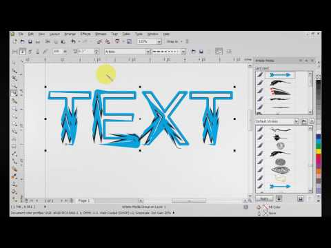 Corel Draw X5 Artistic Media Tutorial
