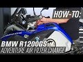 How To Change The Air Filter On A BMW R1200GS Adventure