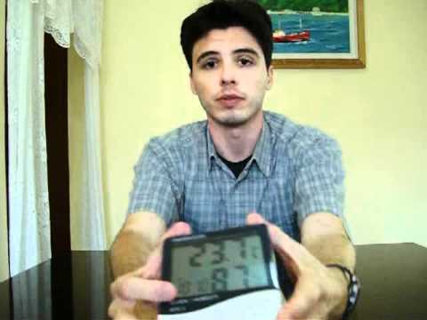 Medidor digital de temperatura e umidade youtube - Medidor de temperatura ...