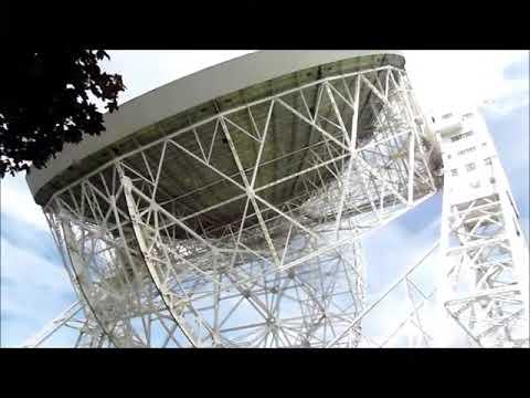 Jodrell Bank radio telescope in Cheshire, UK