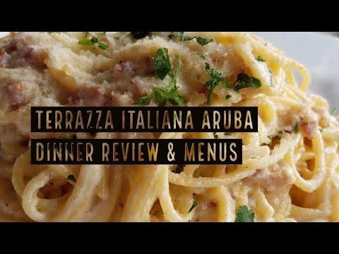 Terrazza Italiana Aruba Dinner Menus And Review