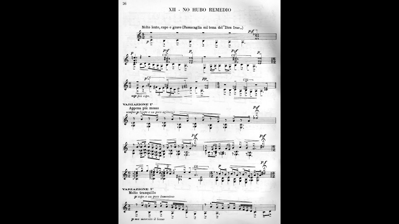 Mario Castelnuovo Tedesco No Hubo Remedio From 24 Caprichos De