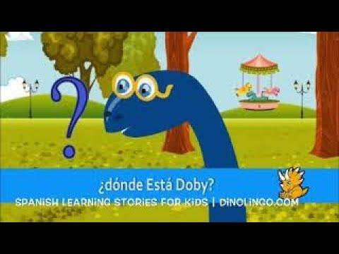 子供のためのスペイン語の本 - ドビーはどこ? - ¿ Dónde está Dobby ? - 子供のためのスペイン語 - Dinolingo