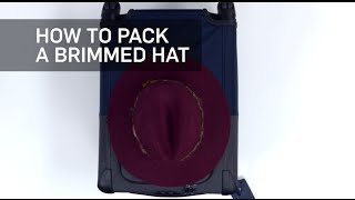 How to Easily Pack a Brimmed Hat | Travel + Leisure