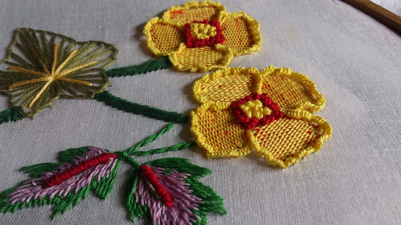 Hand embroidery stitches tutorial design