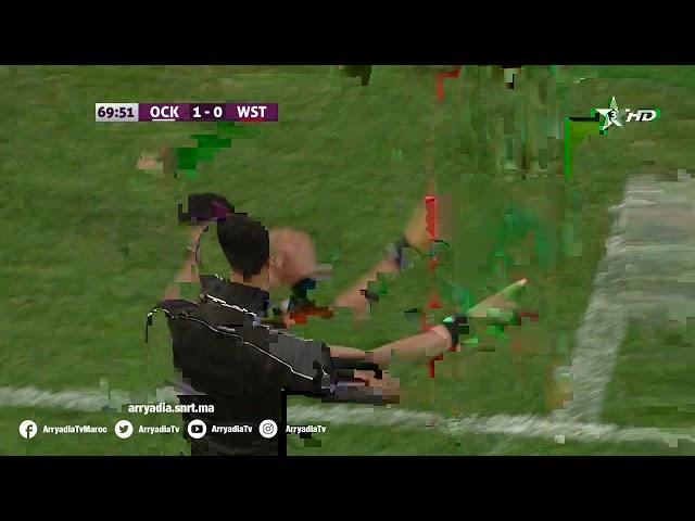 أولمبيك خريبكة 1-1 وداد تمارة هدف أيوب زحاف من نقطة الجزاء في الدقيقة 71