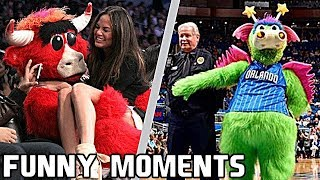 NBA Mascots FUNNY MOMENTS