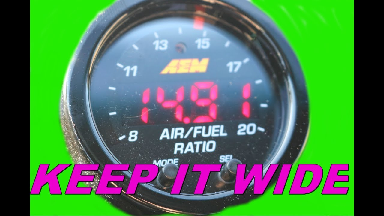 AEM Wideband install on a 300zx - YouTube