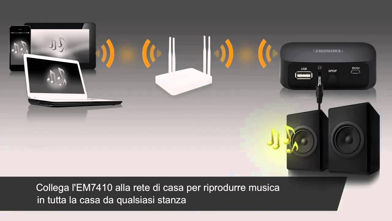 Em7410 wifi music streamer aggiorna il tuo impianto - Impianto stereo casa prezzi ...