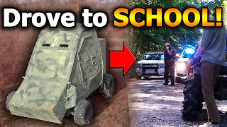 We Drove our Homemade Tank to SCHOOL! Cops called... | Vintage Adventures