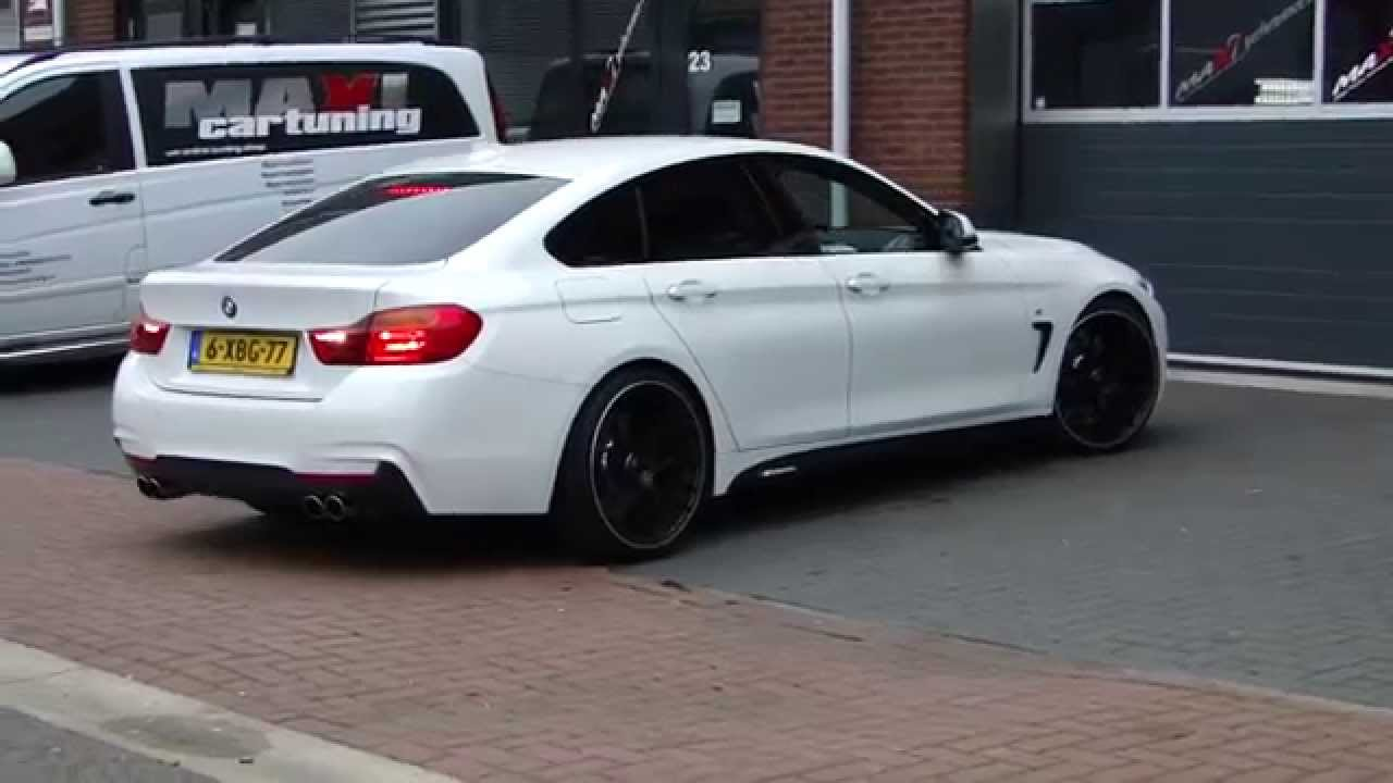bmw 420i f36 m4 look exhaust sportauspuff www auspuffpunkt. Black Bedroom Furniture Sets. Home Design Ideas
