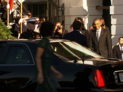 Obama Welcomes Italian PM to White House