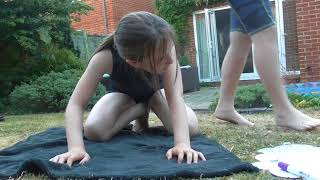 Tilly does a Gymnastics Challenge