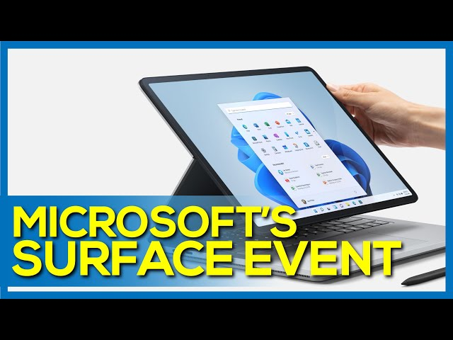 Everything Microsoft Announced at their 2021 Fall Surface Event: Surface Pro 8, Go 3, Studio Laptop