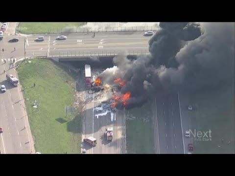 At least 1 dead, multiple injuries reported after several vehicles catch fire on I-70 near Denver We