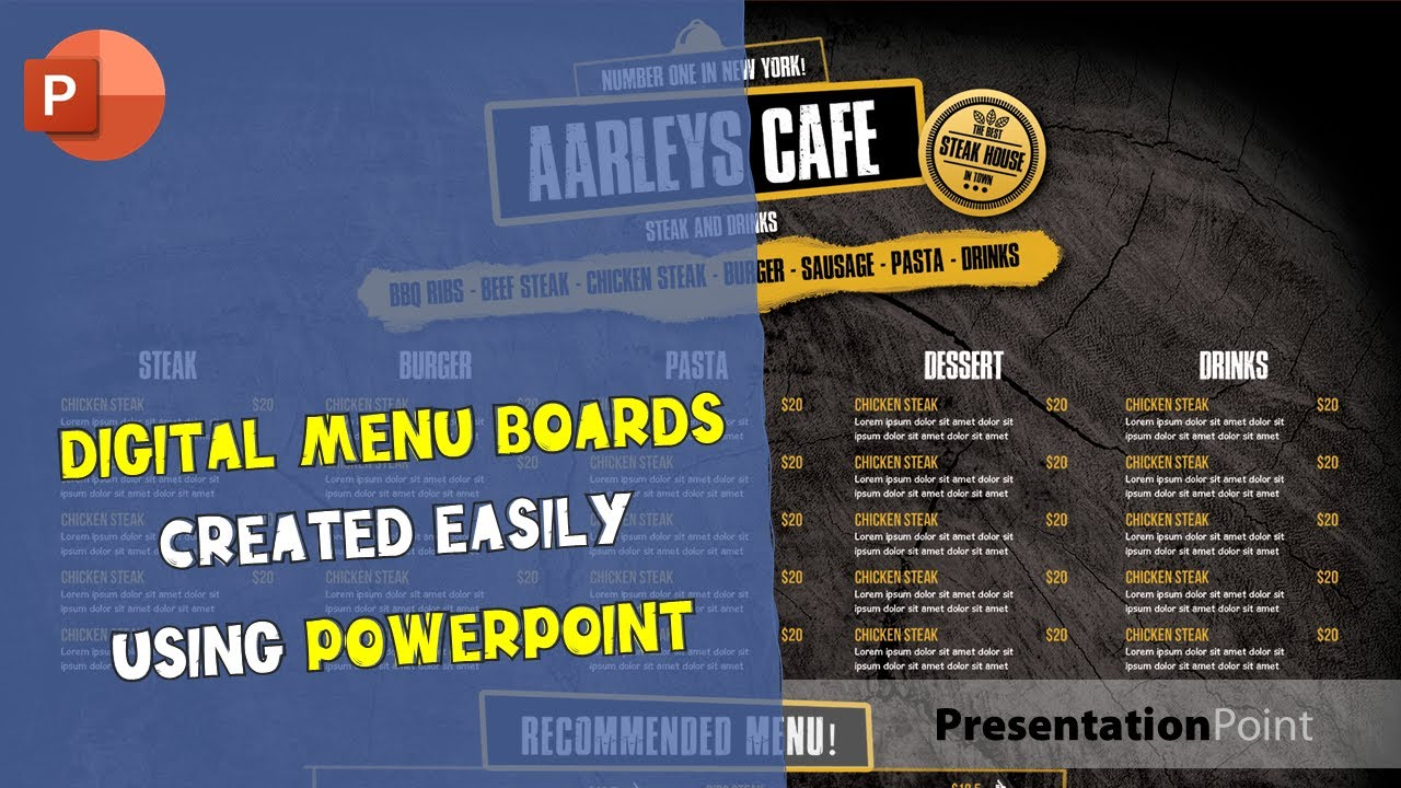 examples of menu boards with powerpoint to inspire you youtube