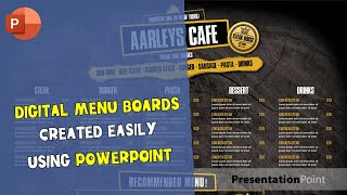 Examples Of Menu Boards with PowerPoint To Inspire You
