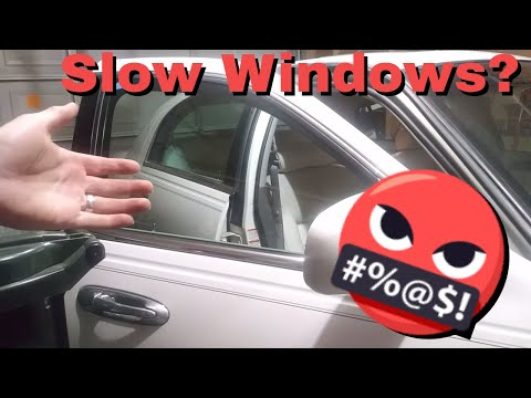 Are you power windows slow?   Grease them up!