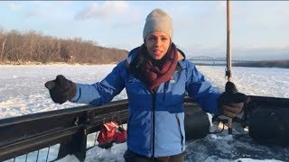 US Coast Guard cutter Sturgeon Bay With Adrienne Bankert | Good Morning America|